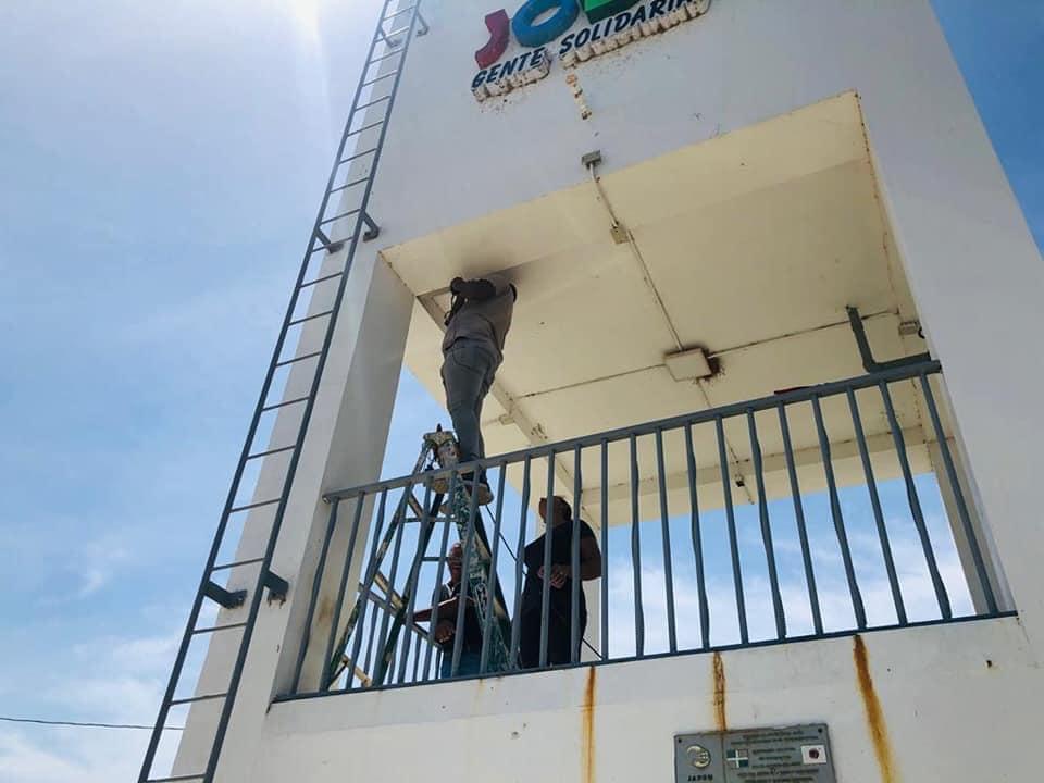 Mantenimiento del tendido eléctrico al Parque de Jobo Corcobado y Reductores de Velocidad.
