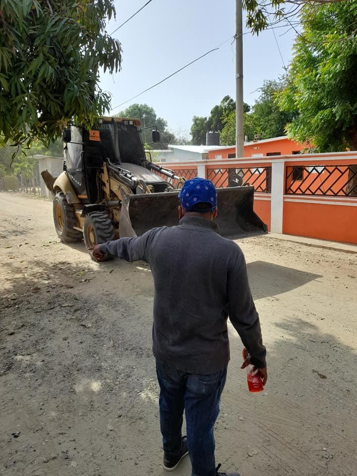 Operativo sobre limpieza de escombros en el barrio nuevo de jobo